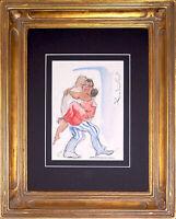 Framed & Signed Original Acrylic THE NEWLYWEDS, by Spanish Artist, Marta Rodilla