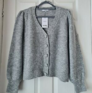 Next Ladies Grey Winter V Neck Cardigan Size M Bnwt r.r.p £34