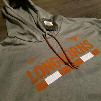 TEXAS LONGHORNS Nike Therma-Fit Grey Pullover Hoodie Jacket Elite Mens 2XL XXL
