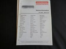 Original Service Manual Nordmende TU 1350