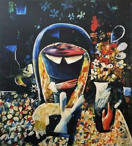 """CHARLES BLACKMAN """"Alice Closing Up..."""" Signed Limited Edition Print 100cm x 90cm"""