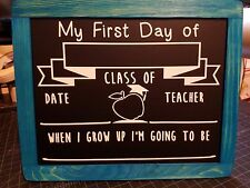 FIRST and / or LAST Day Of SCHOOL Black Board Back To School Picture Reversible