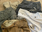 Lot 5 Abercrombie & Fitch Men's 34/36 Camo Cargo Shorts Heavy Weight Distressed