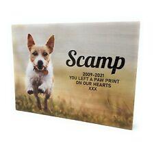 Personalised Full Coloured Photo Pet Memorial Wooden Plaque Keepsake