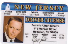 Frank Sinatra singing star plastic  collector card Drivers License