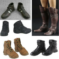 1/6 Lace Up Boots Soldier Shoes for 12'' Dragon BBI DML Figure Male Body