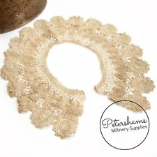 Ivory Antique Lace Vintage Collar / Cuff for Hat Trims & Haberdashery
