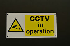 CCTV In Operation Camera Pre-Drilled Plastic Security Sign 200mmx100mm