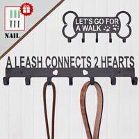 Metal Door Wall Hooks & Hangers Dog Leash Hanger Key Coat Hat Holder Home Rack