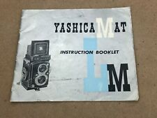 YASHICA MAT LM INSTRUCTION BOOKLET-Printed Japan