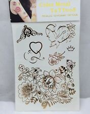 Temporary Metallic Tattoos Inspired By Jewellery Sheet Just For £0.99