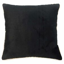 Black Velvet Throw Sofa Cushion Covers Square Indian Solid Pillow Case 16 x 16