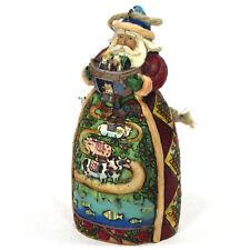 "Jim Shore Santa With Noah'S Ark 4.5"" Ornament Figurine 4007947 Christmas 2007"