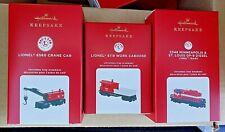 New ListingNib 2020 Hallmark Ornament Lionel 3 Piece Train Set Free Shipping !