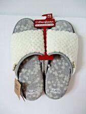 Dearfoams Cloud Step Slide Slippers Womens Size XL 11-12 Alabaster