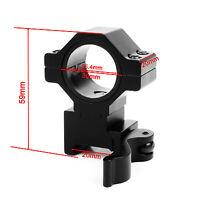 Hunting 30mm/25.4mm Insertion Scope Ring 20mm Rail QD Mount for Flashlight