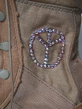 BAD GIRL desert Boots / Wüsten Stiefel+ Swarovski Steinchen + Peace EU 37/38