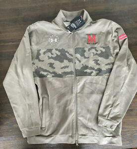 Maryland Terrapins Under Armour zip up military game jacket Large NWT MSRP $90