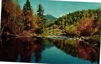 Vintage Postcard - The Ausable River And Whiteface Mountains New York NY #1734