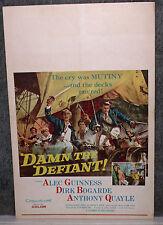 DAMN THE DEFIANT/H.M.S. DEFIANT orig1962 movie poster DIRK BOGARDE/ALEC GUINNESS
