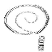 argento donna strass cintura diamante Donna Vita catena pendente FASHION- 478
