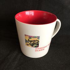 "Komodo Dragon Blend Coffee Mug  Asia Pacific  White w/ Red Interior   4"""