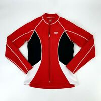 Louis Garneau Cycling Jacket Womens Size M Full Zip Bike Color Block Stretch Fit