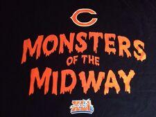 CHICAGO BEARS SUPER BOWL XLI MONSTERS OF MIDWAY Long Sleeve Shirt 2XL Rare Vtg