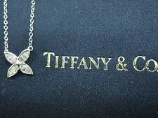 Tiffany & Co Platinum Victoria Marquise Diamond Pendant Necklace 0.25CT