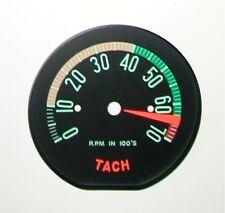 1961 Late-1962 Corvette Tachometer Face- High RPM - New
