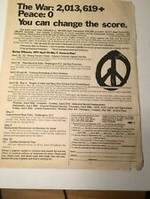 1971 Flyer: PCPJ Spring Offensive: VVAW Dewey Canyon III, May 4th DEMO