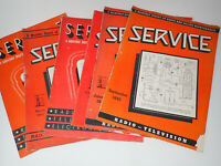 Set of 6 1943 Service Technical Journal of Television Radio Trade Repair Shops