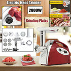2800W Electric Automatic Heavy Duty Meat Grinder Beef Stuffer Mincer Machine Red photo