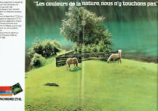 Publicité Advertising 127  1980  Film pellicule Agfachrome CT18  (2 pages)