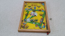 Vtg 1933 Northwestern POOSH-M-UP Jr. Baseball Pinball Game Tabletop Toy With Box