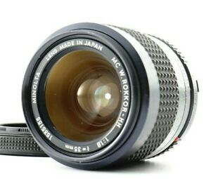 Excellent+5 Minolta W.Rokkor-HH MC 35mm f/1.8 MF MC Wide Angle Lens From JAPAN