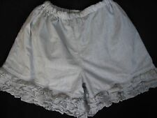 Persnickety Gray White Pin Striped Ruffled Bloomers Shorts Size 7
