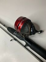 """5'6"""" Zebco 404 Combo Red/Silver Reel Great For Bass, Bream, Catfish, Crappie"""