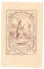 XVIIIse SAINTE GENEVIEVE santino holy card Pillot Santa Genoveffa Parigi Polizia