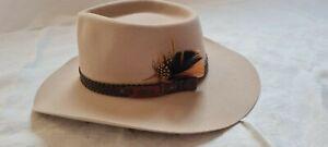 Akubra Snowy River Sand/Beige  australischer Filzhut Kaninhaar Hut Cowboy Hüte