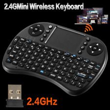 NEW Mini 2.4Ghz Wireless Bluetooth Touchpad Keyboard +USB Receiver For Smart TV
