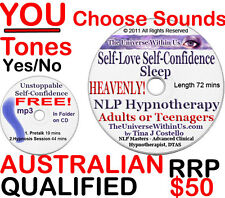*SALE!* SELF-CONFIDENCE SELF-LOVE SLEEP CLINICAL HYPNOTHERAPY HYPNOSIS CD or MP3