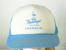Vintage Flamingo Hilton Hipster SnapBack Trucker Mesh Cap Hat Casino 80 Laughlin