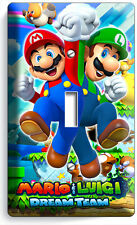 SUPER MARIO AND LUIGI BROS SINGLE LIGHT SWITCH WALL PLATE COVER GAME ROOM DECOR
