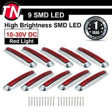 """10 x 9 LED SMD 6.7"""" Red Sealed Side Marker Indicator Light Trailer Truck Car ATV"""