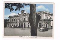 aversa caserta ESTERNO STAZIONE FERROVIE DELLO STATO ANIMATA  1954