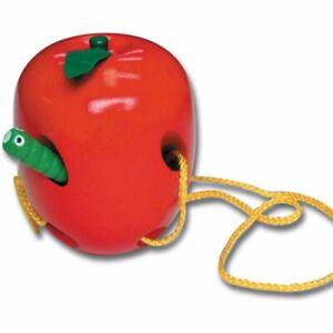 Eduk8 Wooden Lacing Apple - Kids Children's Educational Toys