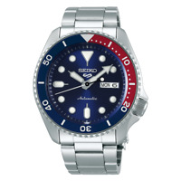 Seiko 5 Sports Full Stainless Steel Pepsi Bezel 42.5mm Automatic Watch SRPD53K1
