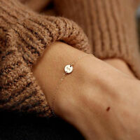 Women Men Simple 26 Letters Bracelet Bangle Jewelry Chain Party Gift Little