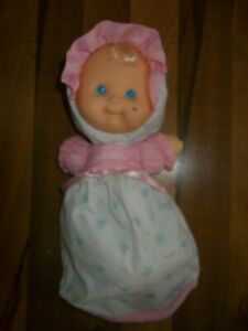 VINTAGE 1992  FISHER PRICE PUFFALUMP KID BABY #1210 PINK BLUE BUNTING  MARKED